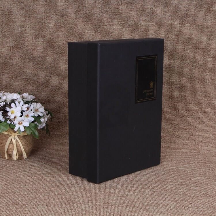 Matte Black Gift Box For Belt side view five