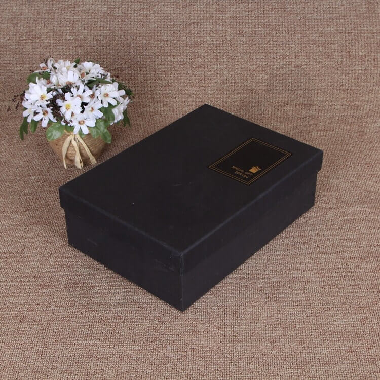 Matte Black Gift Box For Belt side view one