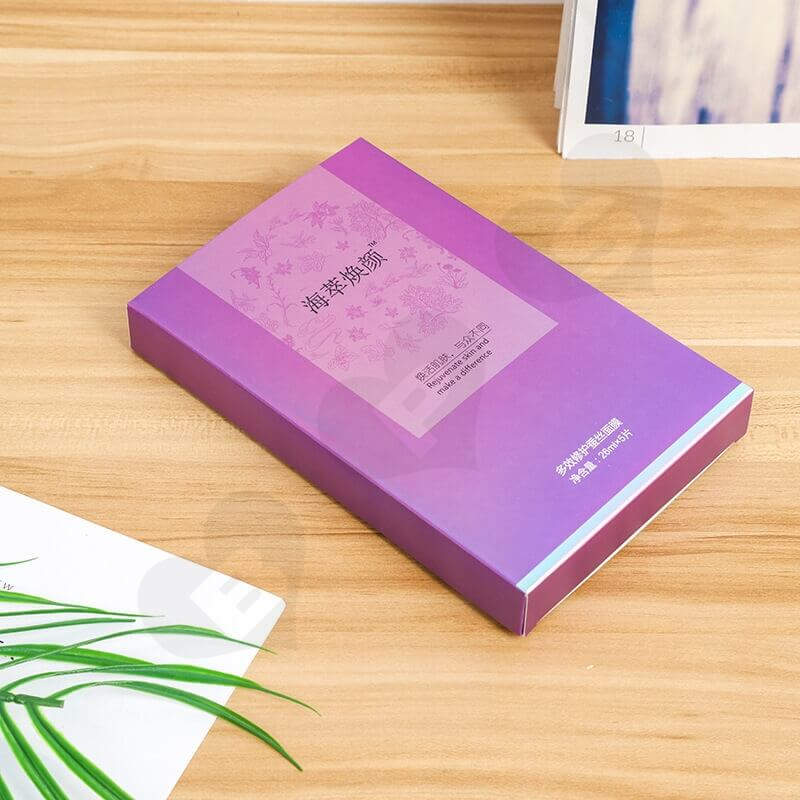 Matte Lamination Color Printed Cardboard Box For Silk Mask side view five