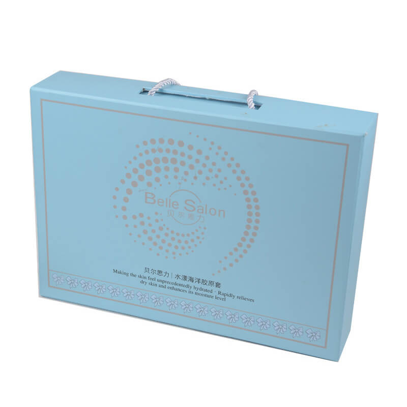 Offset Printed Gift Box With Nylon Handle