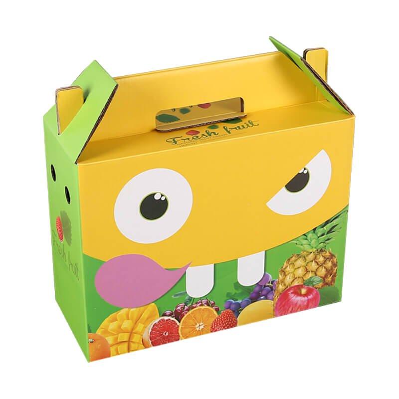 One-piece design gable top fruit box
