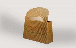 Paperboard carrier box mockup