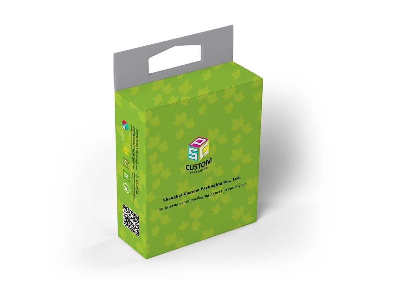 Paperboard material retail box mock-up design 2
