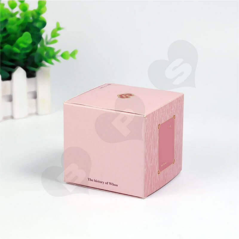 Personalised Cube Cardboard Gift Box For Perfume side view five