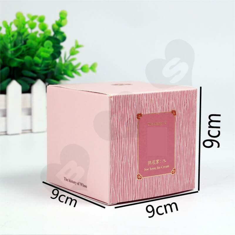 Personalised Cube Cardboard Gift Box For Perfume side view three