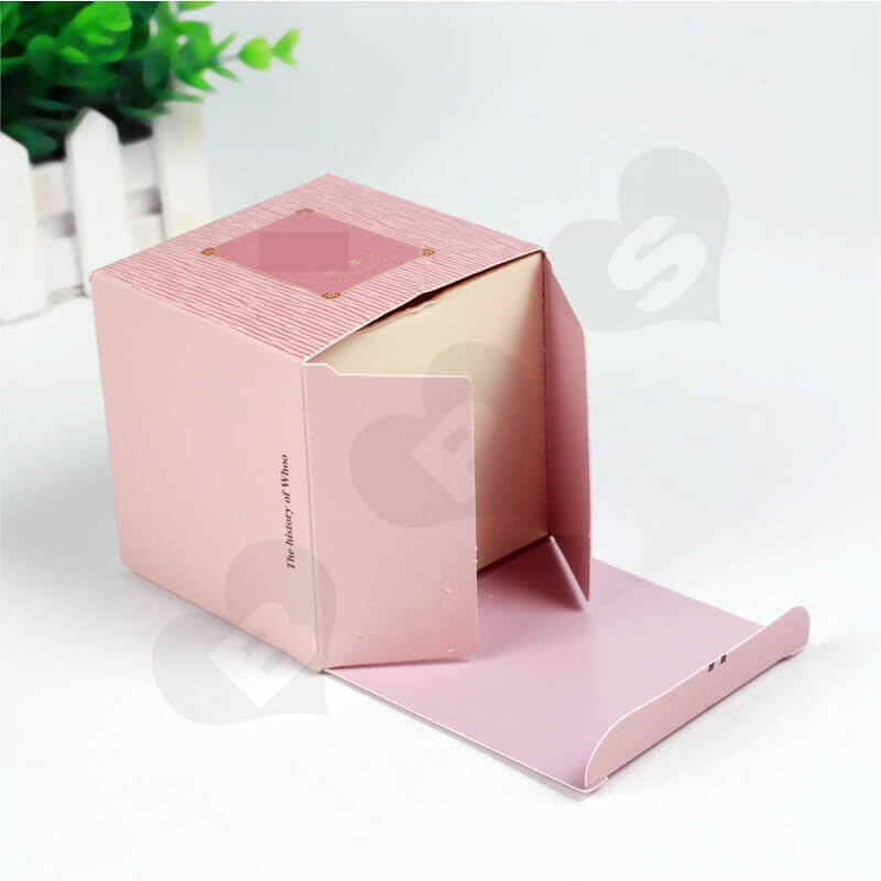 Personalised Cube Cardboard Gift Box For Perfume side view two
