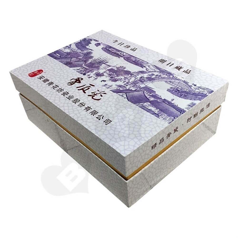 Porcelain Set Packaging Box Sideview One