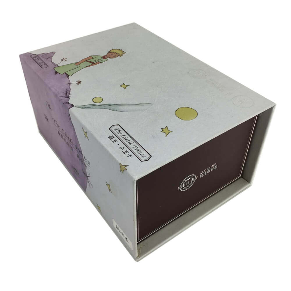 Portable Speaker Rigid Box Packaging sideview one