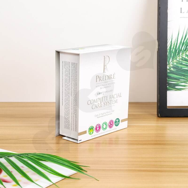 Printed Cardboard Box For Complete Facial Care System side view four