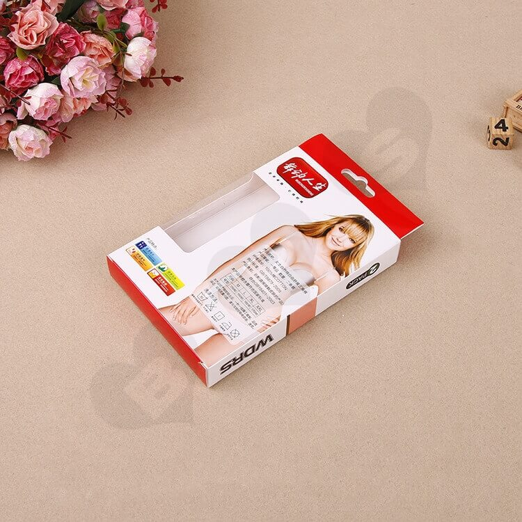 Printed Cardboard Hanger Box With Window For Underwear side view four