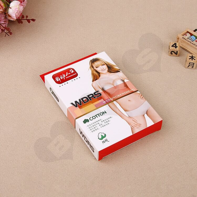 Printed Cardboard Hanger Box With Window For Underwear side view three