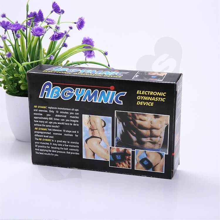 Printed Corrugated Box For Electronic Gymnastic Device side view one