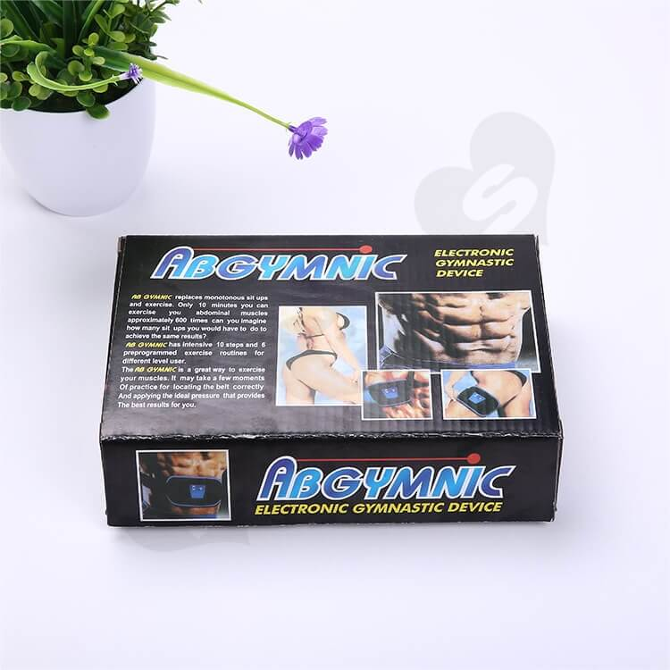 Printed Corrugated Box For Electronic Gymnastic Device side view six