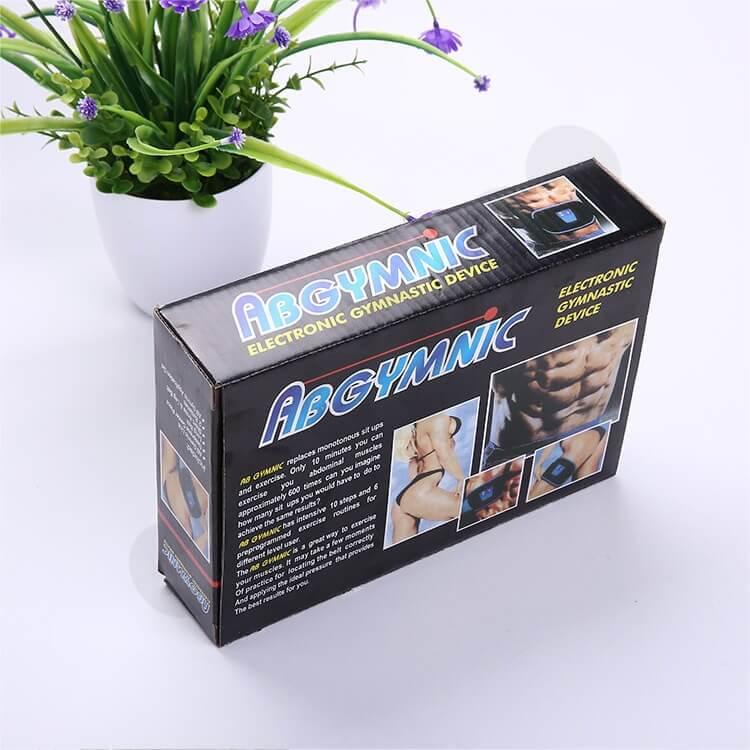 Printed Corrugated Box For Electronic Gymnastic Device side view two
