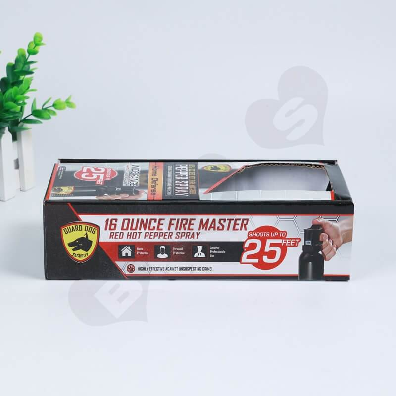 Printed Corrugated Box For Hot Pepper Spray side view one