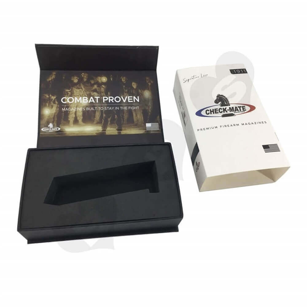 Printed Magazine Packaging Box with Sleeve Sideview Five