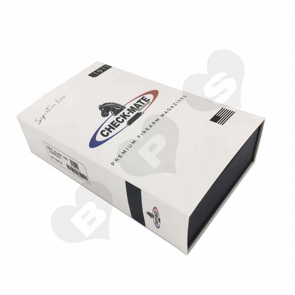 Printed Magazine Packaging Box with Sleeve Sideview One
