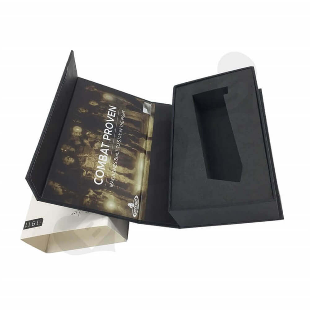 Printed Magazine Packaging Box with Sleeve Sideview Six