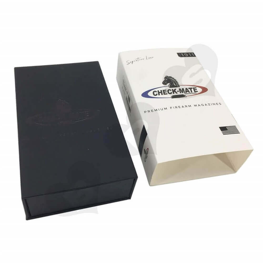 Printed Magazine Packaging Box with Sleeve Sideview Three