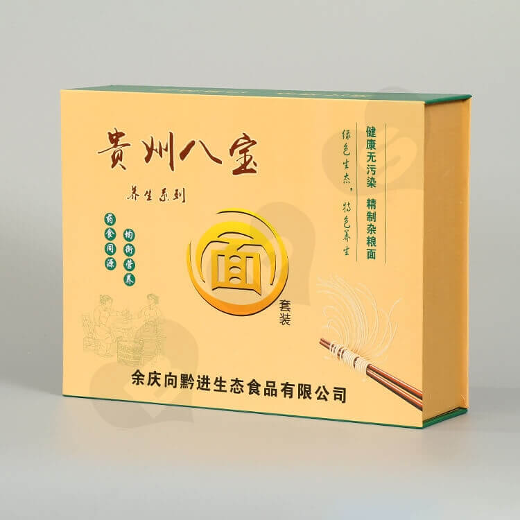 Printed Magnetic Closure Box For Noodles side view one