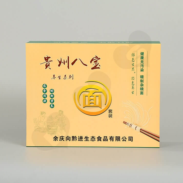 Printed Magnetic Closure Box For Noodles side view three