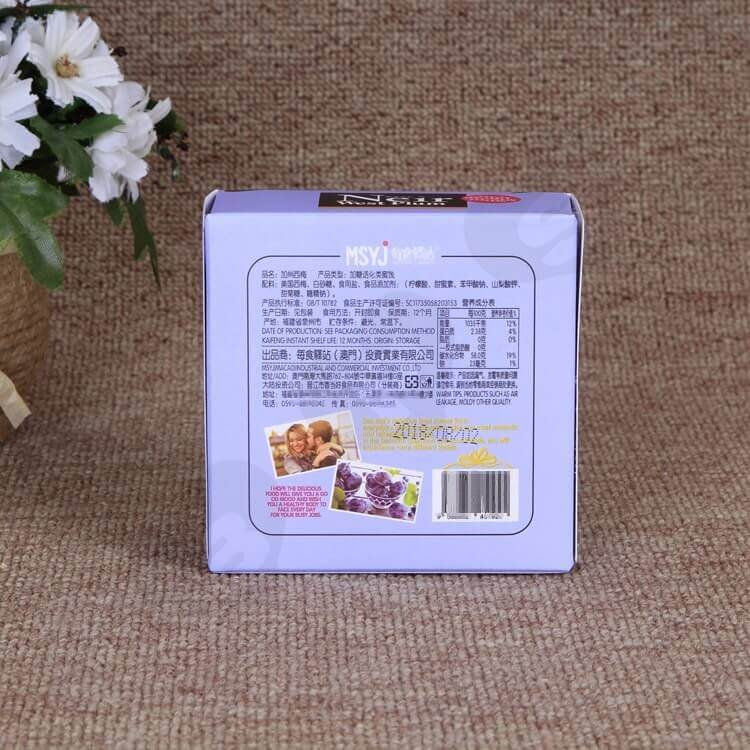 Printed Retail Cardboard Box For Dry Nuts And Fruits side view six