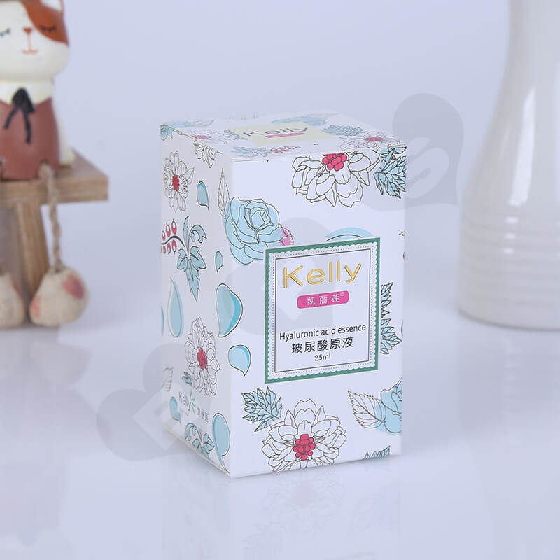 Printed Tuck End Cosmetic Packaging Box side view four