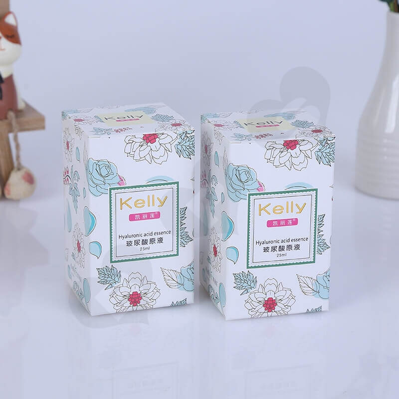 Printed Tuck End Cosmetic Packaging Box side view one