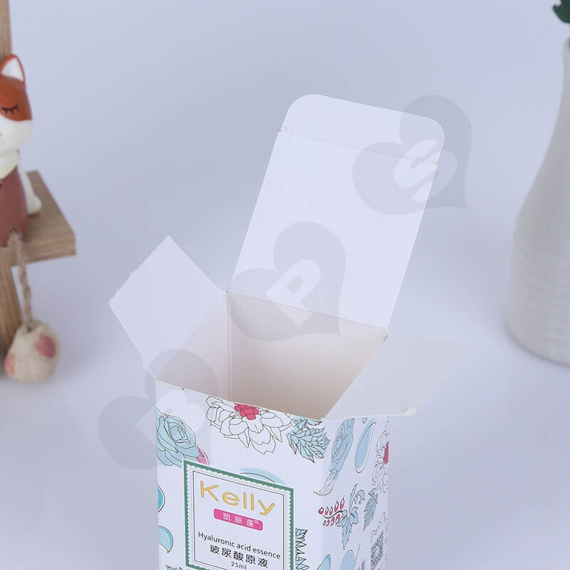 Printed Tuck End Cosmetic Packaging Box side view three