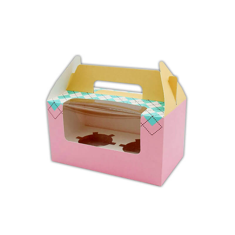 Printed gable top cupcake carrier box