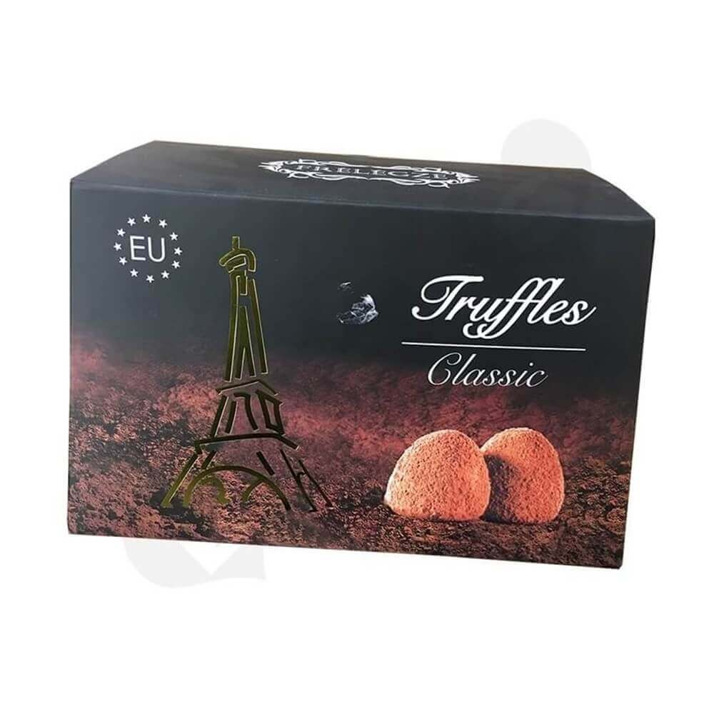 Printed truffles Packaging Box Sideview Five
