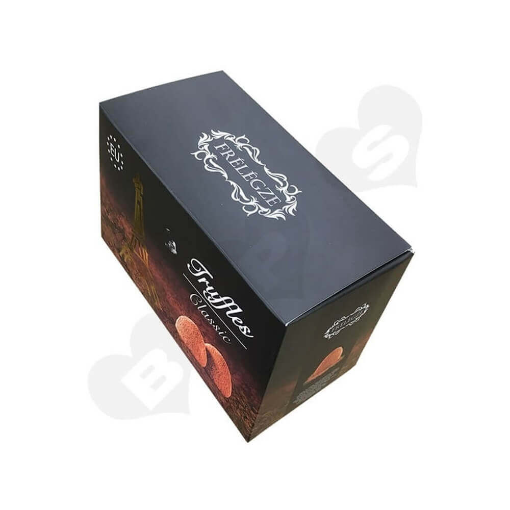 Printed truffles Packaging Box Sideview One