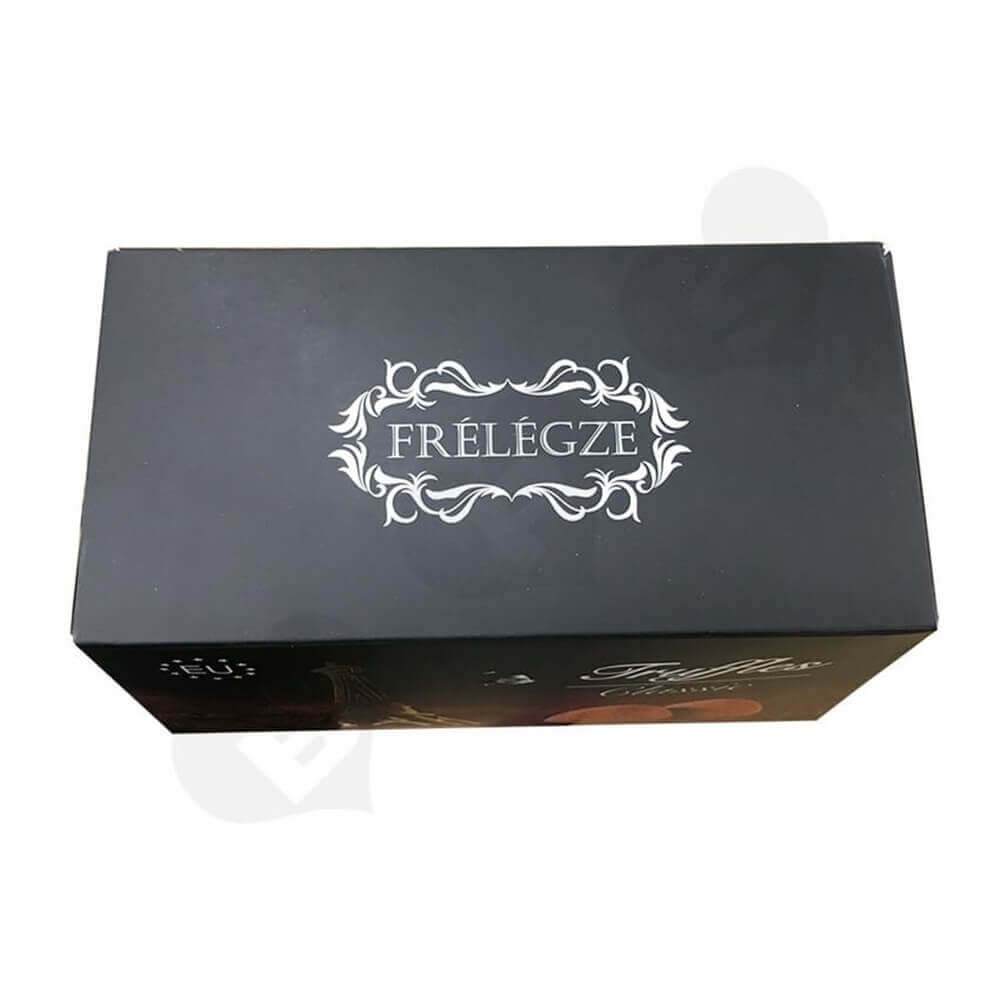 Printed truffles Packaging Box Sideview Six