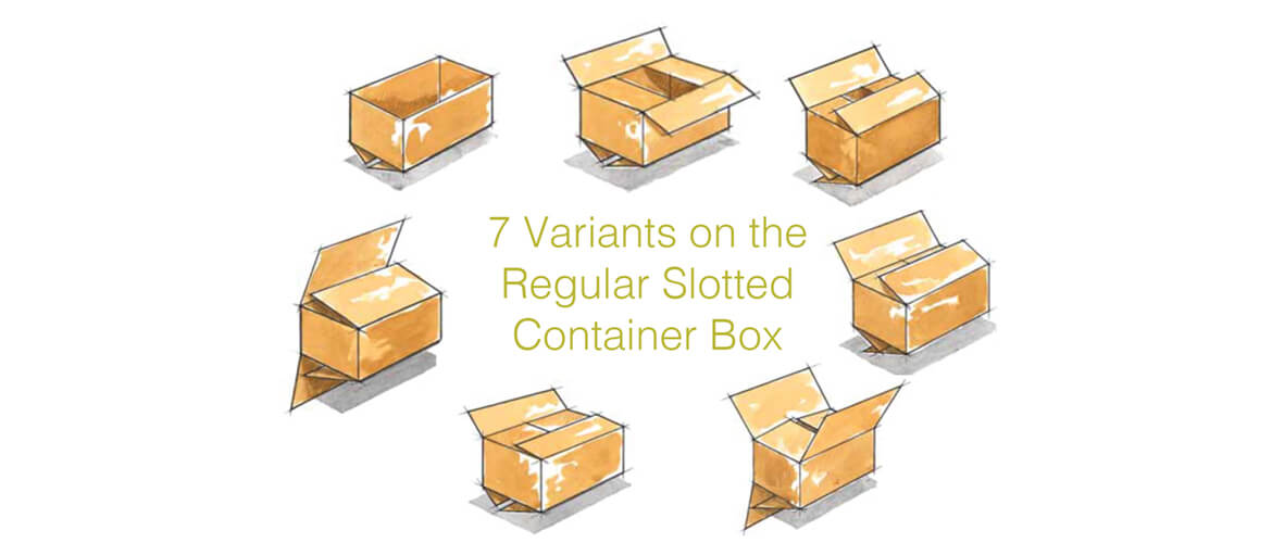 RSC Variants of regular slotted carton box