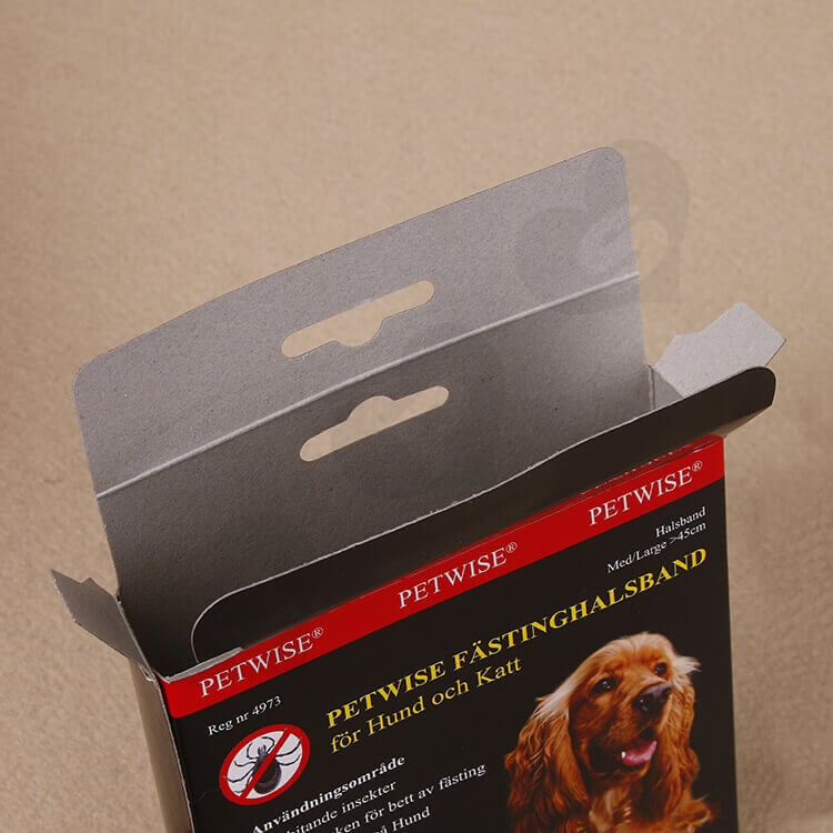 Retail Box For Pet Fasting Halsband side view three