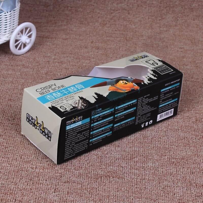 Retail Cardboard Box For Beef Bones side view three