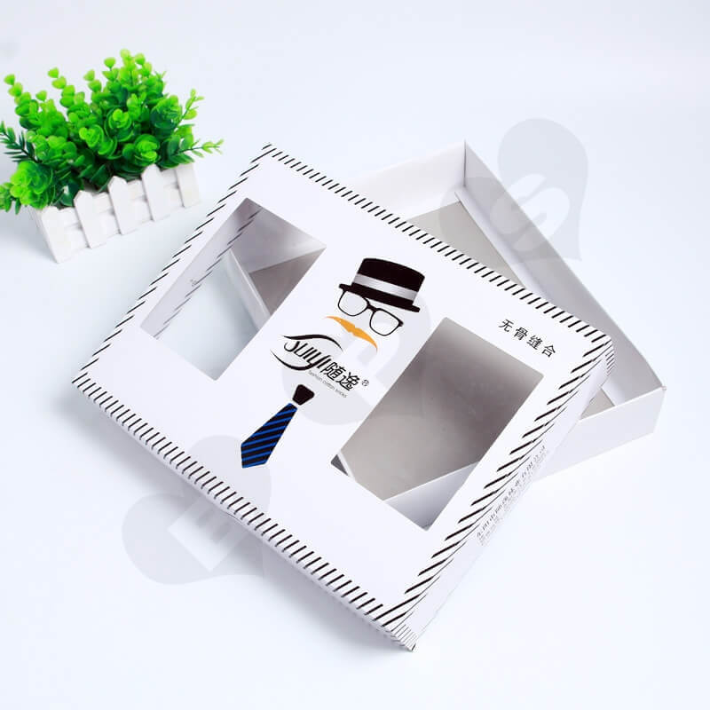 Retail Cardboard Printed Box For Tie side view four