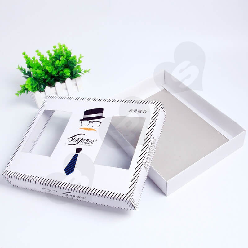 Retail Cardboard Printed Box For Tie side view one