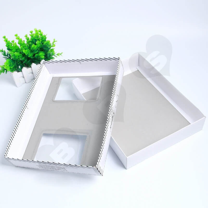 Retail Cardboard Printed Box For Tie side view three