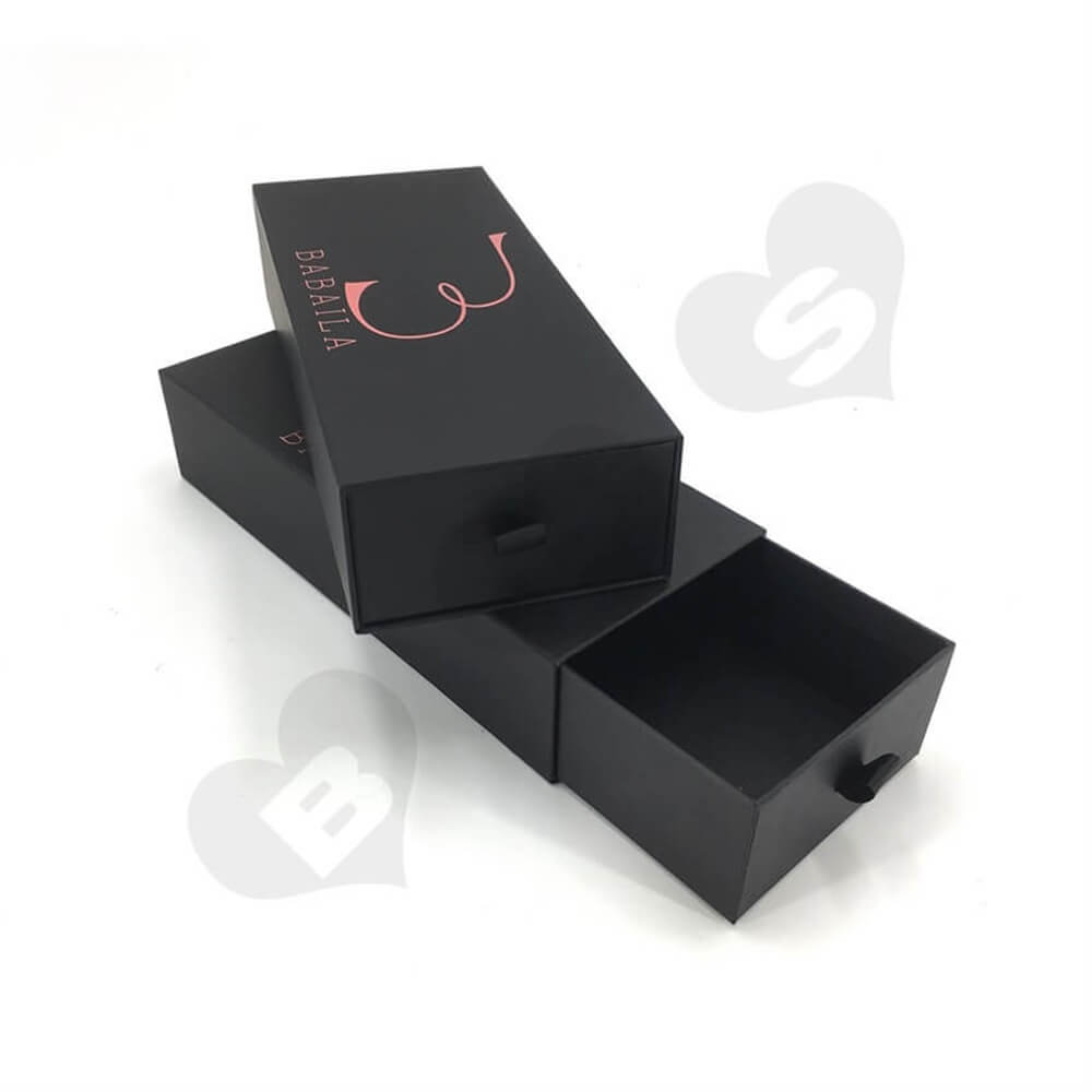 Rigid Cardboard Drawer Style Wig Box sideview five