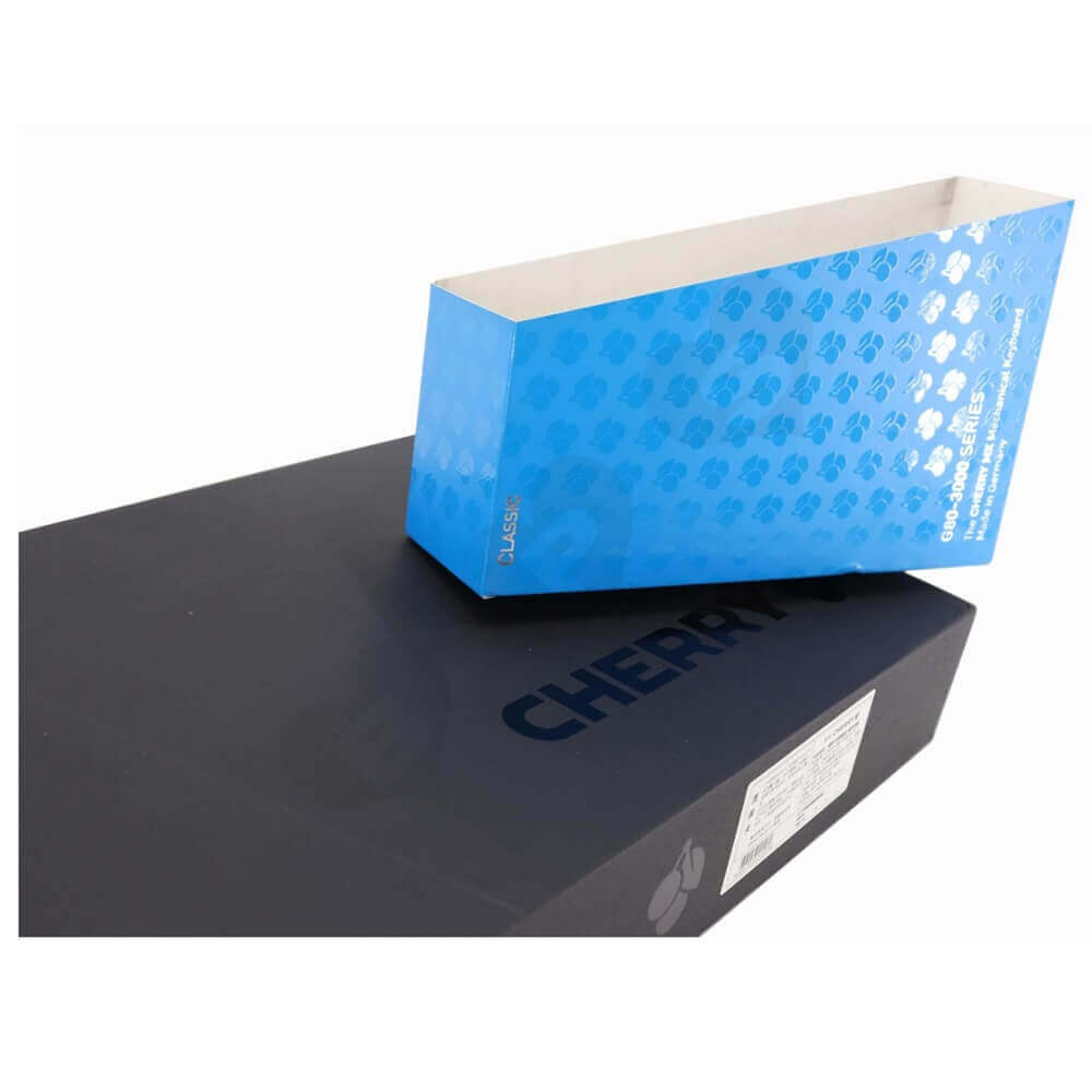 Rigid Cardboard Keyboard Packaging Boxes With Sleeve Side View Two