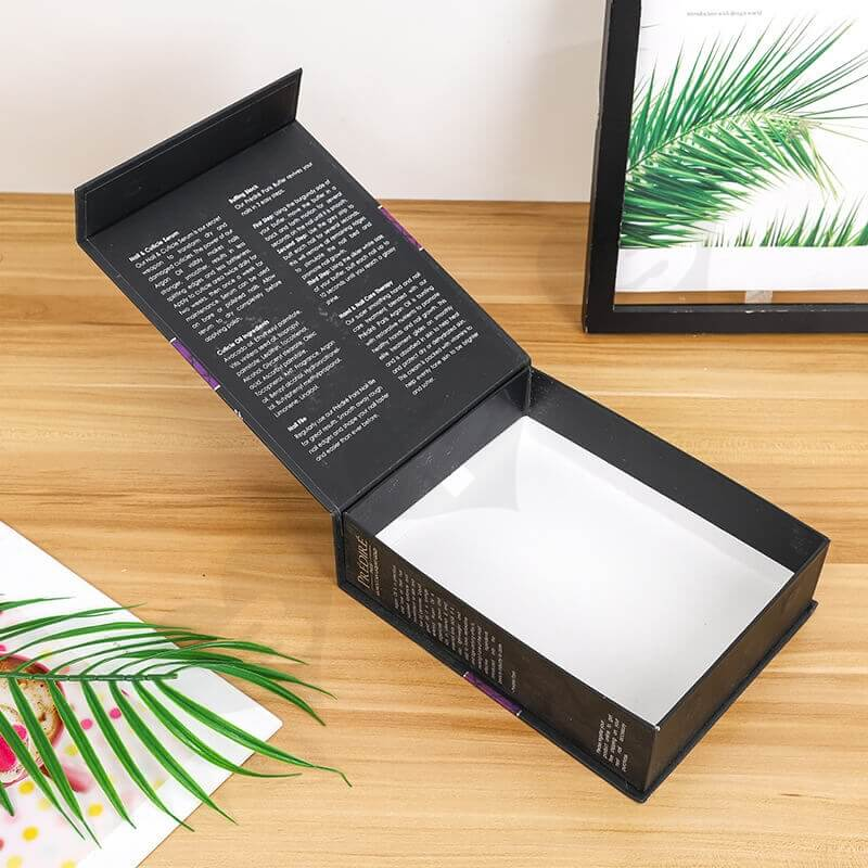 Rigid Color Printed Box For Manicure Set side view three
