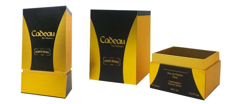Rigid Neck top and bottom cardboard perfume packaging box