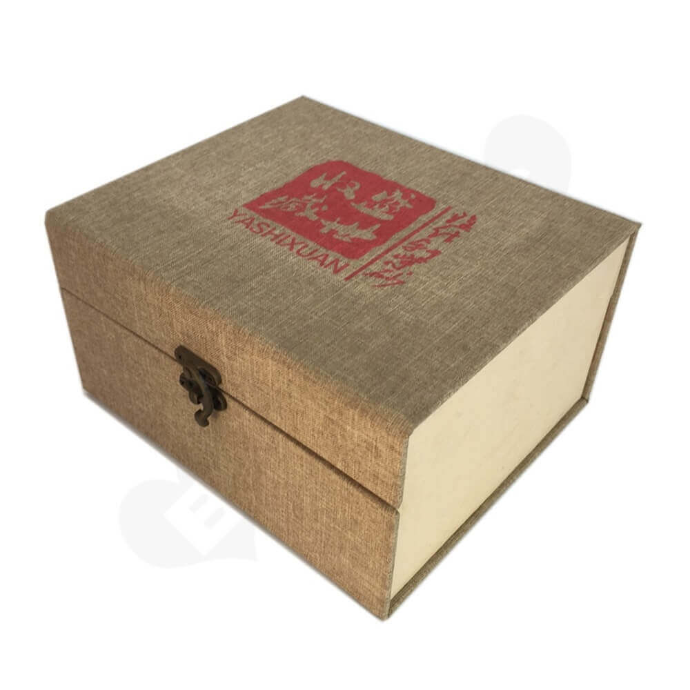 Rigid Tea Packaging Box sideview one
