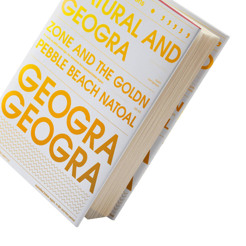 Round Edge Printed Book Made From Specialty Paper