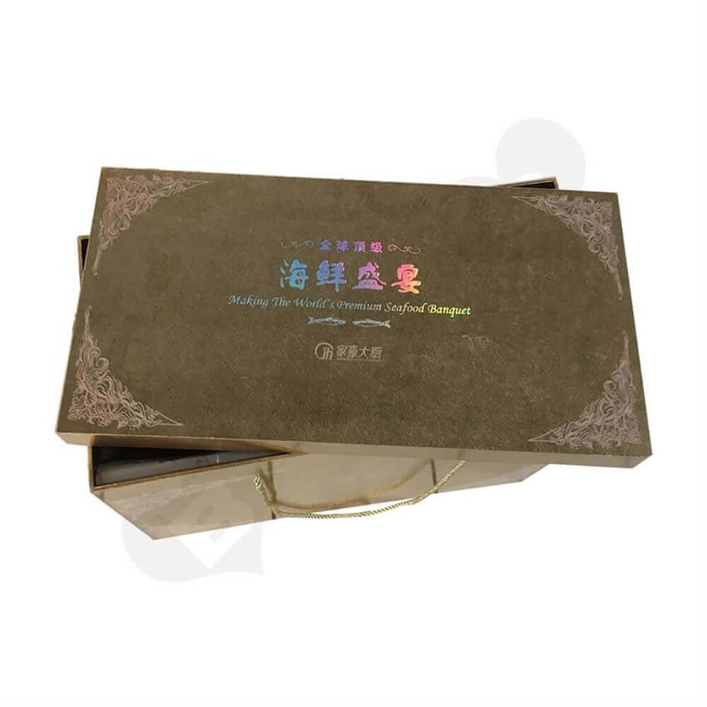 Seafood Packaging Box Side View Five