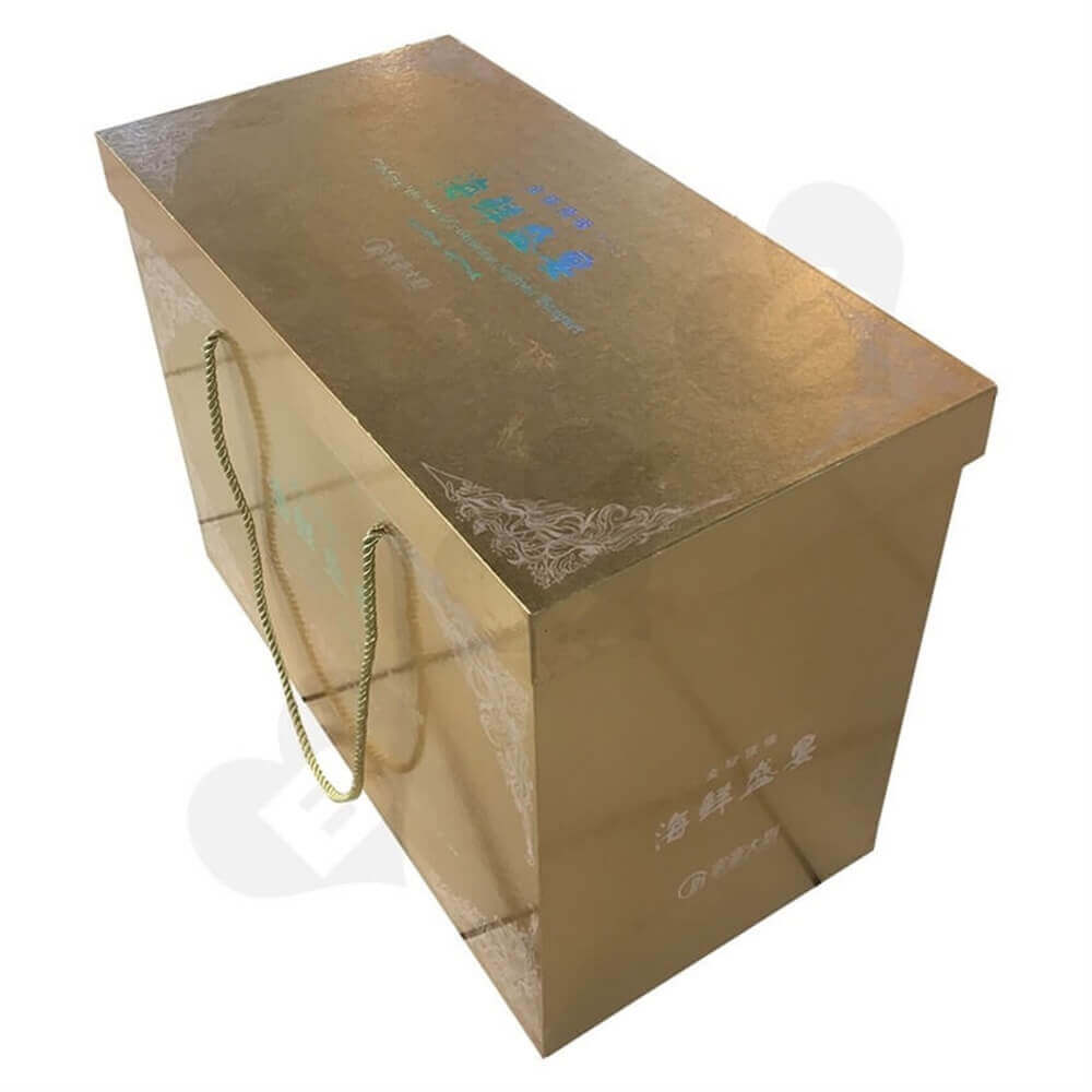 Seafood Packaging Box Side View Four