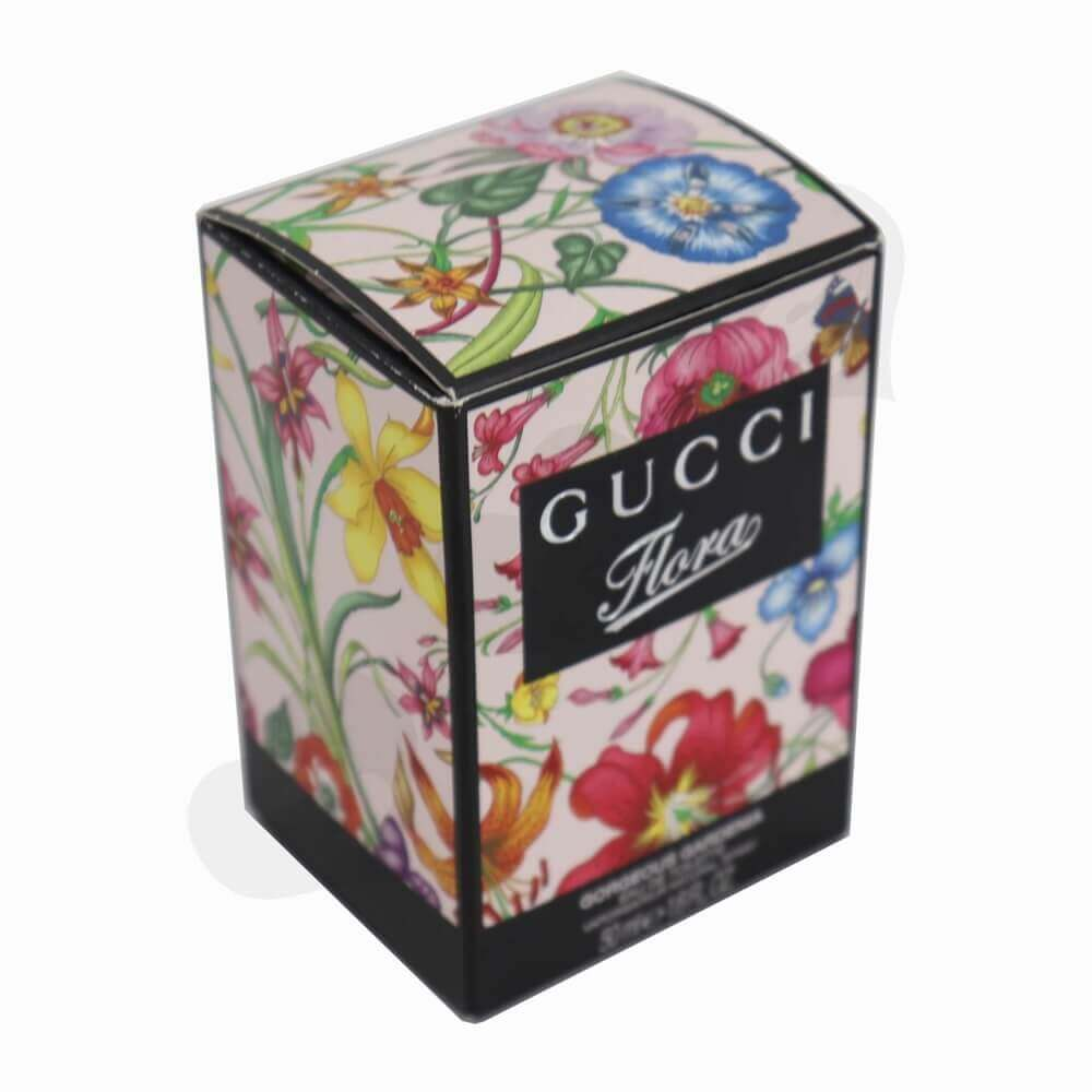 Silver Foiled Luxury Perfume Packaging Box with Black Inserts side view one