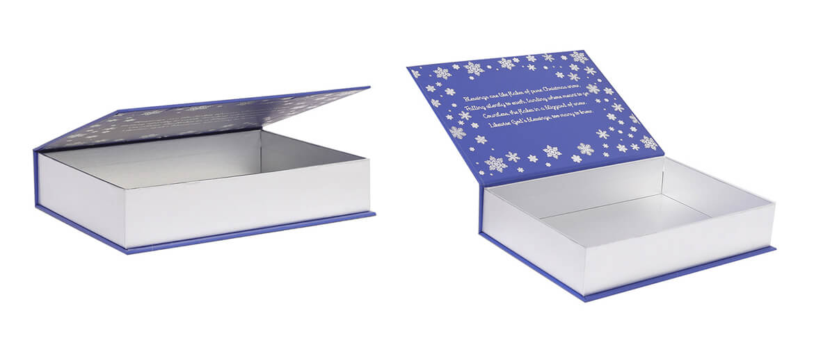 Silver Metallic Paperboard Made Magnetic Box Packaging
