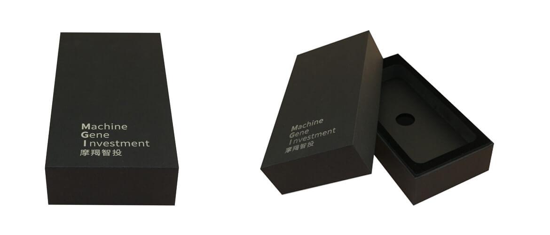 Silver stamping cvardboard gift box for power bank